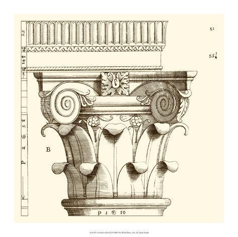Corinthian Detail I Giclee Print