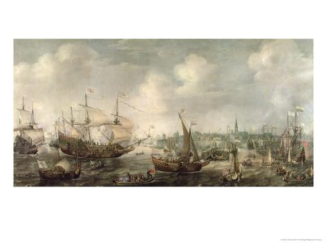The Arrival of Fredrick V at Vlissingen in 1613 Giclee Print