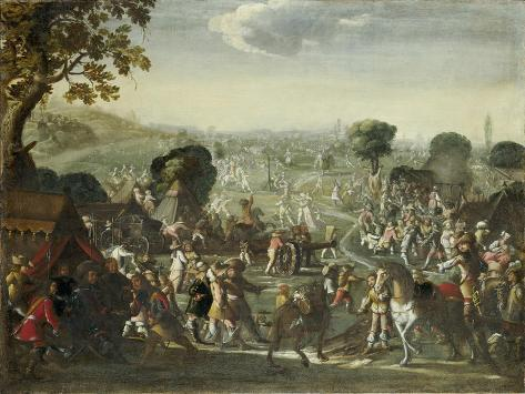 The Plundering of a Village During the Thirty Years' War, 1660 Giclee Print
