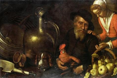 Poultry Merchant Art Print