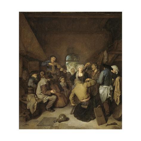 Peasants Making Music and Dancing Premium Giclee Print