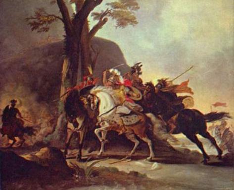 Cornelis Troost (Alexander the Great in the Battle of Granicus) Art Poster Print Masterprint