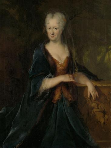 Portrait of Louise Christina Trip, Wife of Gerrit Sichterman Art Print