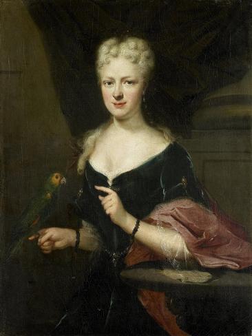 Portrait of Maria Magdalena Stavenisse, Wife of Jacob De Witte of Elkerzee, Councilor of Zierikzee Art Print