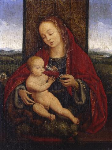 The Madonna and Child Enthroned Impressão giclée