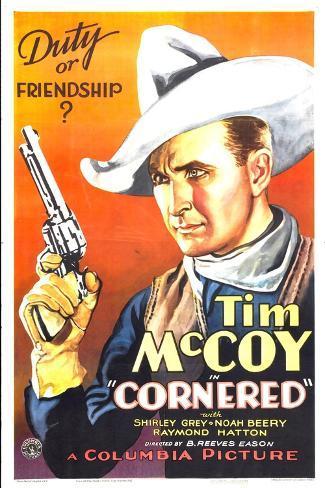 Cornered, Tim McCoy, 1932 Art Print
