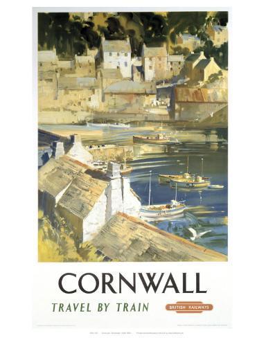 Cornwall Harbour Art Print