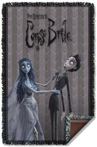 Corpse Bride - Bride And Groom Woven Throw Throw Blanket