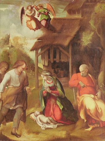 Adoration of the Shepherds, 1516 Lámina giclée