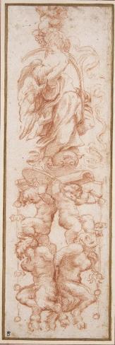 Grotesque Decoration for the Rib of a Vault Lámina giclée