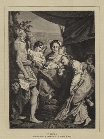St Jerome Lámina giclée
