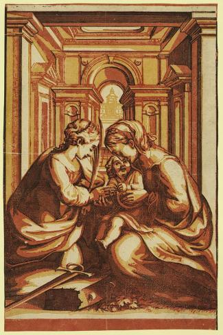 The Marriage of St. Catherine Lámina giclée