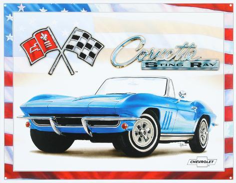 Corvette 65 Sting Ray Tin Sign Tin Sign