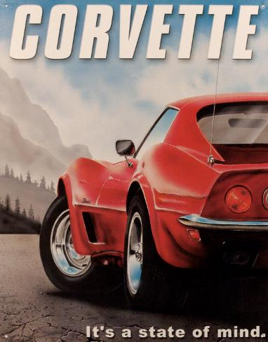 Corvette Tin Sign