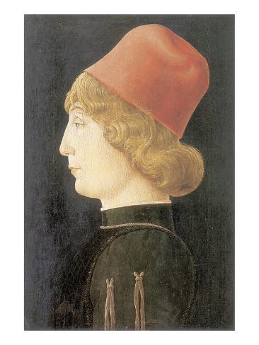 Portrait Of A Ferrarese Nobleman Lámina giclée prémium