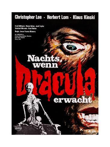 Count Dracula, (AKA Nachts, Wenn Dracula Erwacht), German Poster Art, 1970 Giclee Print