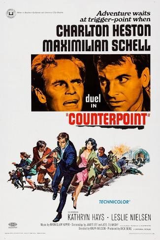 Counterpoint, Top from Left, Charlton Heston, Maximilian Schell, 1967 Art Print