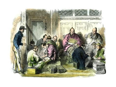 Counting the Compensation Money for the Murder of Mr Richardson, Japan, 1863 Giclee Print