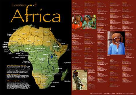Countries Of Africa Art Print