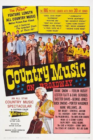 Country Music on Broadway Art Print