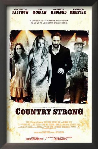Country Strong Framed Art Print