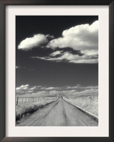 Countryside with Road Horizon Framed Art Print