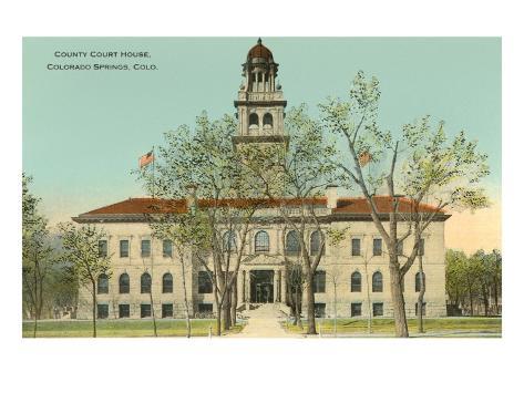 County Courthouse, Colorado Springs, Colorado Art Print