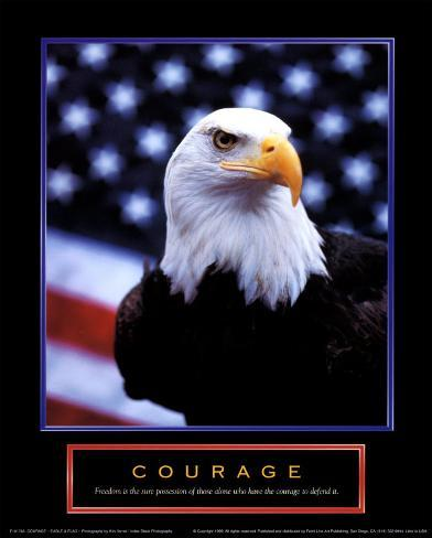 Courage: Eagle and Flag Art Print