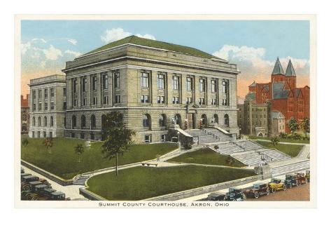 Courthouse, Akron, Ohio Art Print