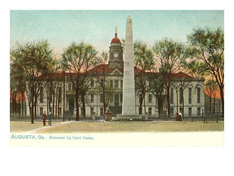 Courthouse, Augusta, Georgia Art Print