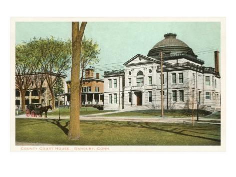 Courthouse, Danbury, Connecticut Art Print
