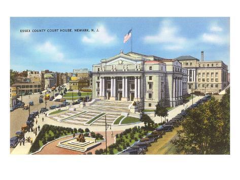 Courthouse, Newark, New Jersey Art Print