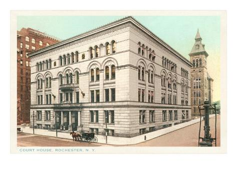 Courthouse, Rochester, New York Art Print