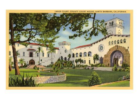 Courthouse, Santa Barbara, California Art Print
