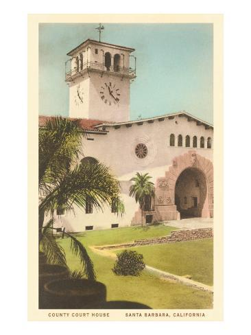 Courthouse, Santa Barbara, California Art Print