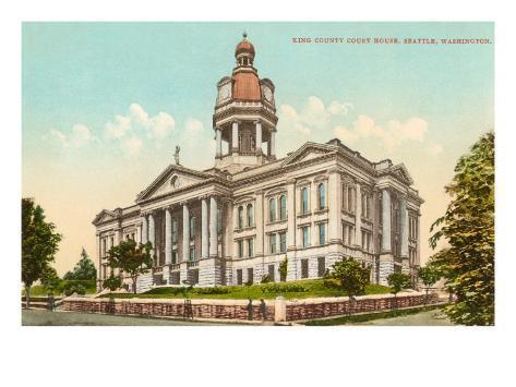 Courthouse, Seattle, Washington Art Print