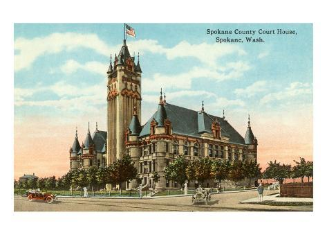 Courthouse, Spokane, Washington Art Print