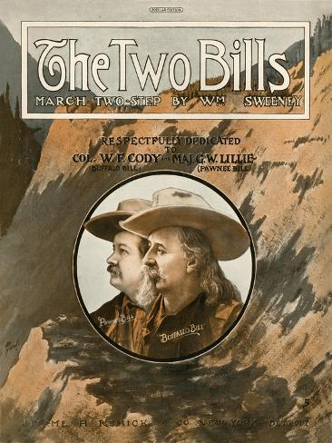 Cover of the Score Sheet for 'The Two Bills', 1910 Stampa giclée