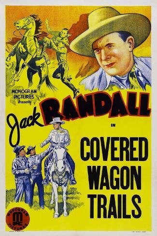 Covered Wagon Trails Art Print