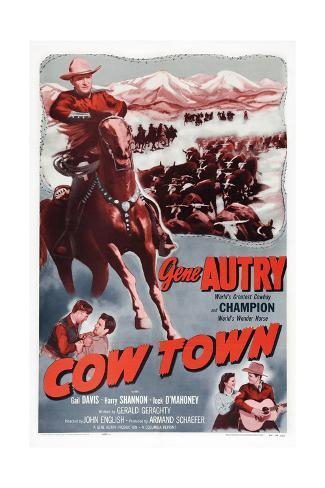 Cow Town Giclee Print