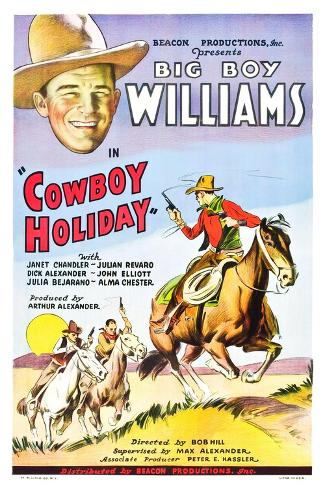 Cowboy Holiday Art Print