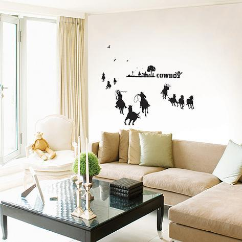Cowboy Rodeo Herd Wall Decal