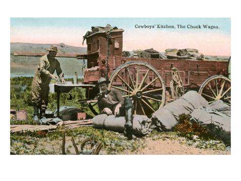 Cowboys Kitchen, the Chuck Wagon Stampa artistica