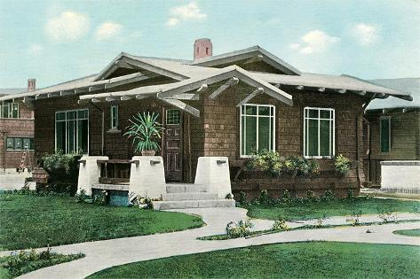 Craftsman House with Pillars Prints at AllPosters.com