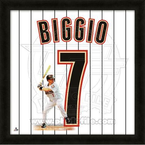 Craig Biggio, Astros representation of the player's jersey Framed Memorabilia