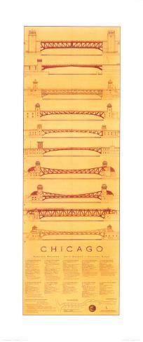 Chicago Bridges Art Print