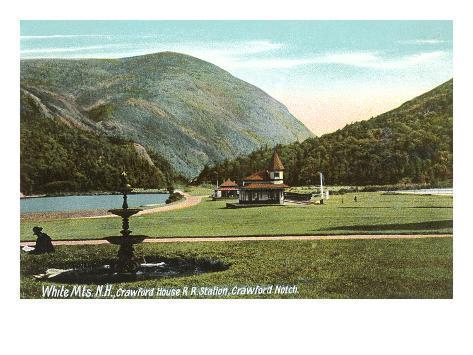 Crawford Notch, White Mountains, New Hampshire Art Print