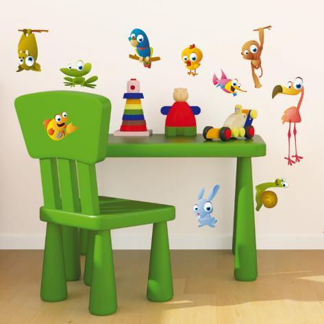 Crazy Animals Wall Decal