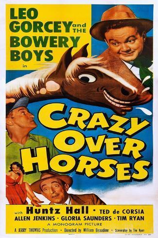 Crazy over Horses Art Print