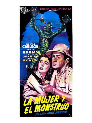 Creature from the Black Lagoon, (aka La Mujer Y El Monstruo), Julie Adams, Richard Carlson, 1954 Photo